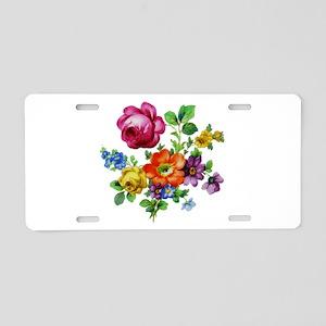 Dresden Flowers Aluminum License Plate