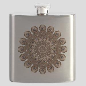 Geo Mercy Peacock Circle Flask
