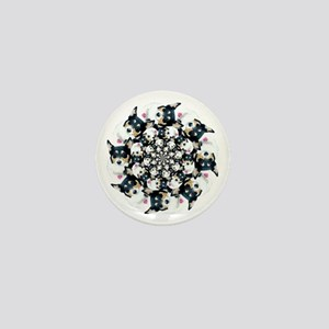 Geo Mist Circle Mini Button