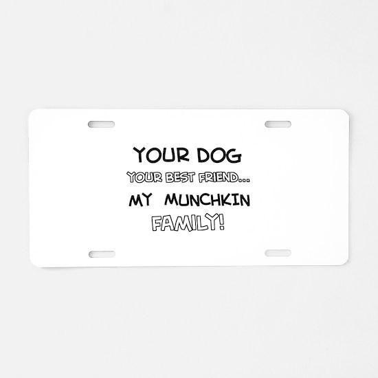 Munchkin Cat designs Aluminum License Plate