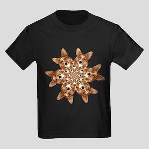 Geo corgi Pip 6 Kids Dark T-Shirt