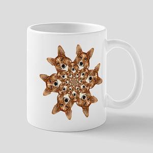 Geo corgi Pip 6 Mug