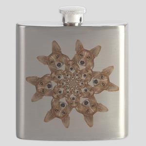 Geo corgi Pip 6 Flask