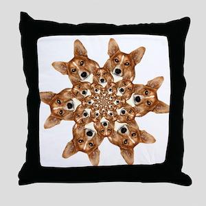 Geo corgi Pip 6 Throw Pillow