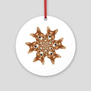 Geo corgi Pip 6 Ornament (Round)