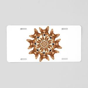 Geo Corgi 8 pip Aluminum License Plate