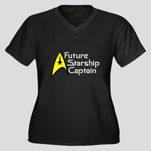 Future Starship Captain Women's Plus Size V-Neck D