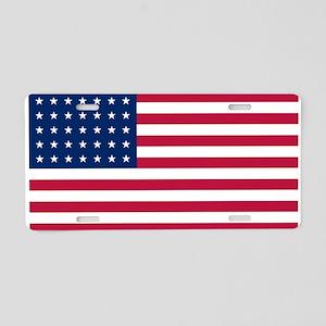 US - 35 Stars Flag Aluminum License Plate