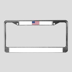 US - 35 Stars Flag License Plate Frame