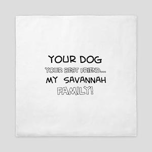 Savannah Cat designs Queen Duvet