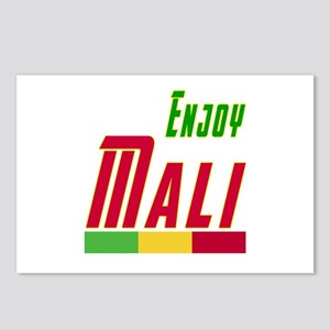Enjoy Mali Flag Designs Postcards (Package of 8)