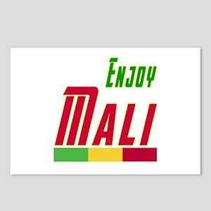 Enjoy Mali Flag Designs Postcards (Package of 8)