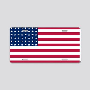 US - 48 Stars Flag Aluminum License Plate