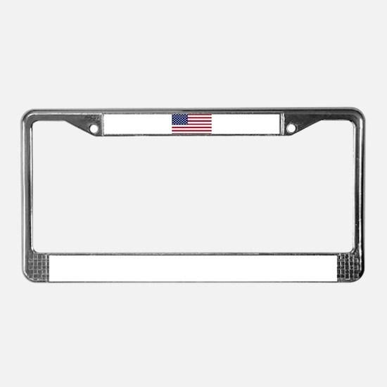 US - 50 Stars Flag License Plate Frame