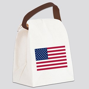 US - 50 Stars Flag Canvas Lunch Bag