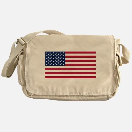 US - 50 Stars Flag Messenger Bag