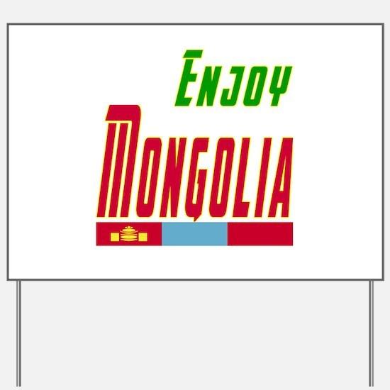 Enjoy Mongolia Flag Designs Yard Sign