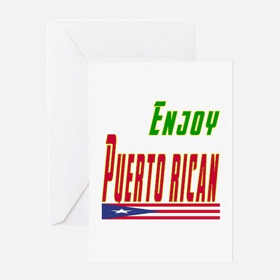 Enjoy Puerto Rican Flag Designs Greeting Card