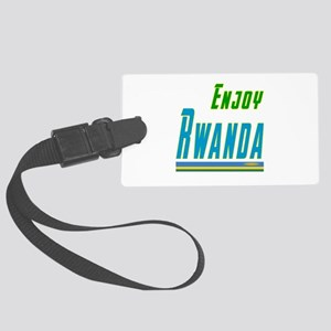 Enjoy Rwanda Flag Designs Large Luggage Tag