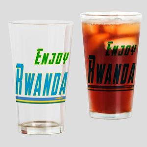 Enjoy Rwanda Flag Designs Drinking Glass
