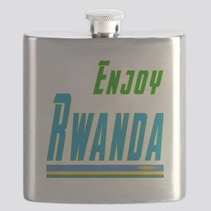 Enjoy Rwanda Flag Designs Flask