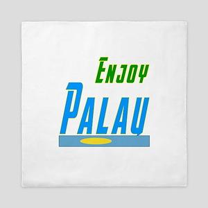 Enjoy Palau Flag Designs Queen Duvet