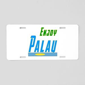 Enjoy Palau Flag Designs Aluminum License Plate