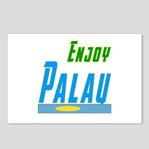 Enjoy Palau Flag Designs Postcards (Package of 8)