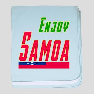 Enjoy Samoa Flag Designs baby blanket