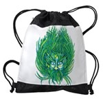 California Green Man Drawstring Bag