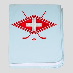 Schweiz Eishockey Logo baby blanket