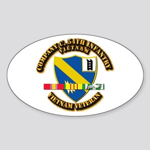 Army - Company C, 54th Infantry w SVC Ribbons Stic