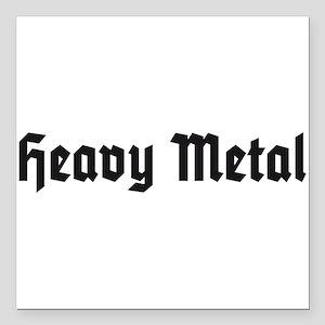 "Heavy Metal Square Car Magnet 3"" x 3"""