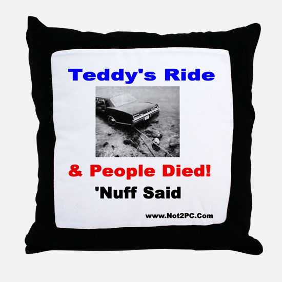 Tedys Ride Throw Pillow