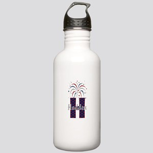 4th of July Fireworks letter H Water Bottle