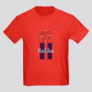 4th of July Fireworks letter H T-Shirt