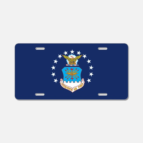 USAF Flag Aluminum License Plate