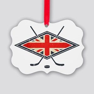 British Ice Hockey Flag Ornament