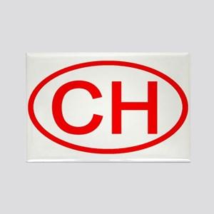 Switzerland - CH Oval Rectangle Magnet