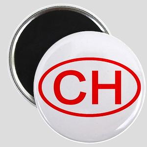 Switzerland - CH Oval Magnet