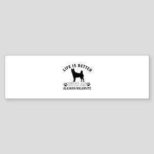Alaskan Malamute vector designs Sticker (Bumper)