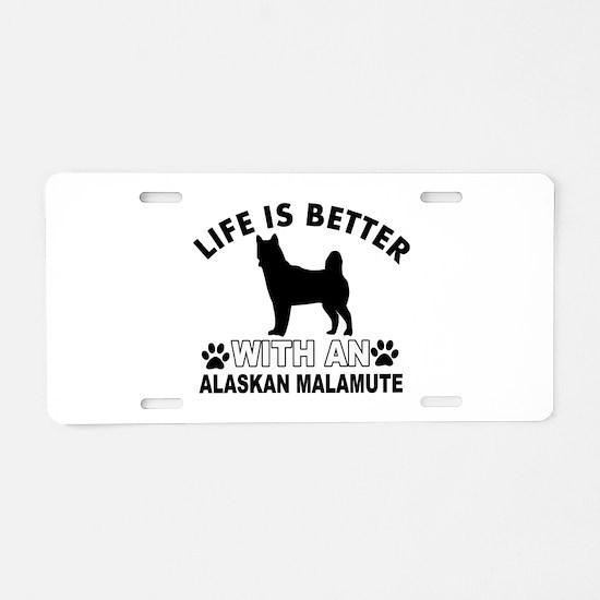 Alaskan Malamute vector designs Aluminum License P