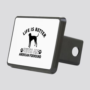 American Foxhound vector designs Rectangular Hitch