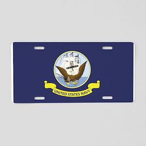 USN Flag Aluminum License Plate