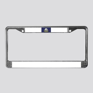 USN Flag License Plate Frame
