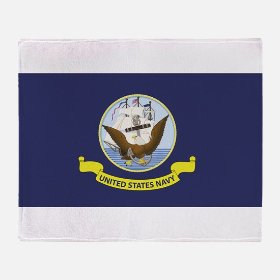 USN Flag Throw Blanket