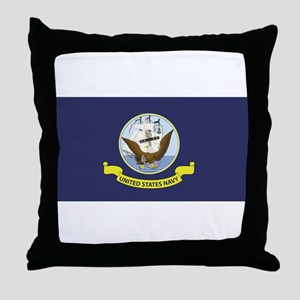 USN Flag Throw Pillow