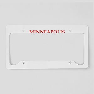 minneapolis License Plate Holder