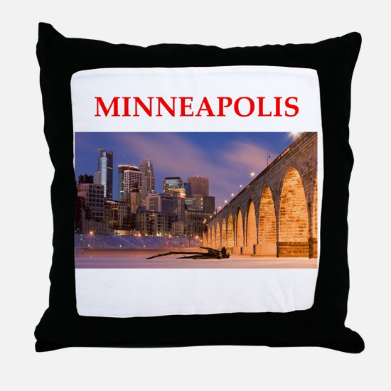 minneapolis Throw Pillow