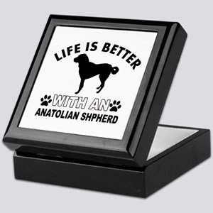 Anatolian Shepherd vector designs Keepsake Box